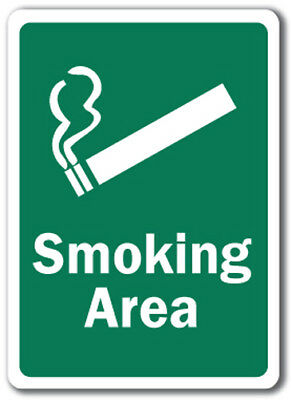"Smoking Area Sign - 10"" x 14"" OSHA Safety Sign"