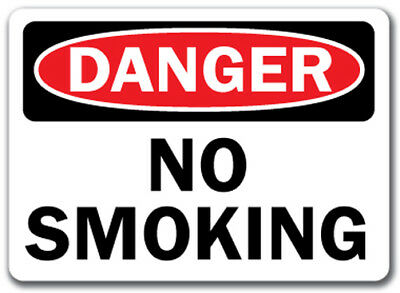 "Danger Sign - No Smoking - 10"" x 14"" OSHA Safety Sign"