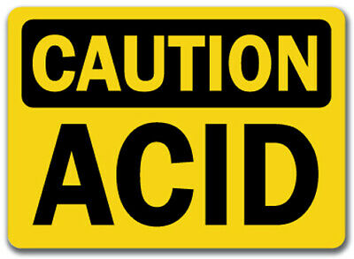 "Caution Sign - Acid - 10"" x 14"" OSHA Safety Sign"