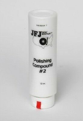 Official JFJ 12oz Single Arm White # 2 Polish Polishing Compound Solution 12 OZ