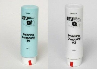 2 Lot JFJ Single Arm 12oz White # 2 & 12 oz Blue # 1 Polishing Compound Solution
