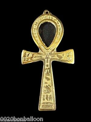 "Ankh 6.3"" brass wall hanging engraved key of life egypt     213"