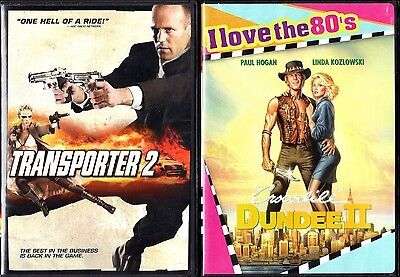 Transporter 2 (2006) & Crocodile Dundee II (2008) - 2 Widescreen Action DVDs