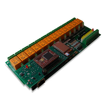 WiFi 802.11 Wireless 12 Channel Relay Module I/O Board: Web, TCP/IP, VB6, BCB6