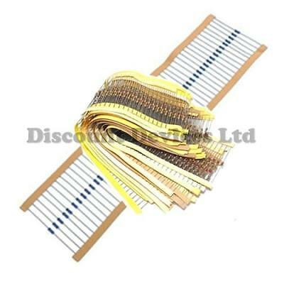 Range of Low Power Carbon Metal Film Resistors 0.25W 0.4W 0.6W 1% 5% Pack of 10