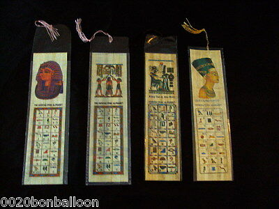 40 Large  Papyrus Egyptian  Book Marks  Original Mark Lot Wholesale