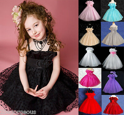 Wedding Flower Girl Dresses Bridesmaid Communion Party Occasion Age 2y-10y 001