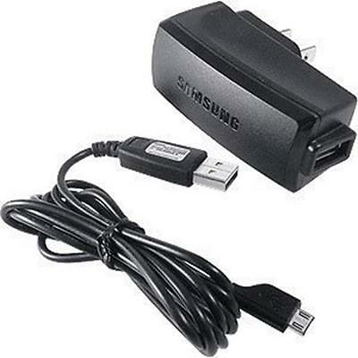 For ATT Samsung Rugby 2 A847 OEM Home Wall Charger + USB Data Sync Cable Link Co