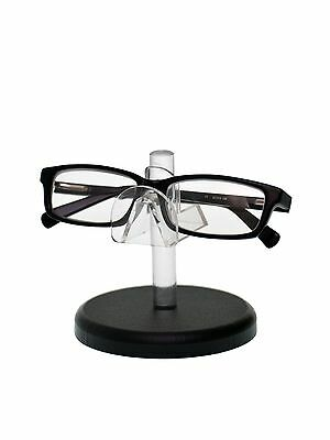 Clear Acrylic SUNGLASSES EYEGLASSES display STAND with Black Base Glasses Nose