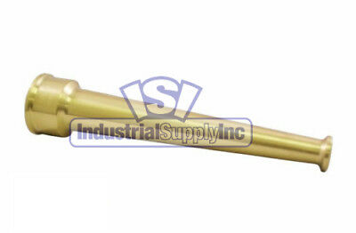 "1-1/2"" NPSH (National Pipe Straight Hose) Brass Plain Hose Nozzle"