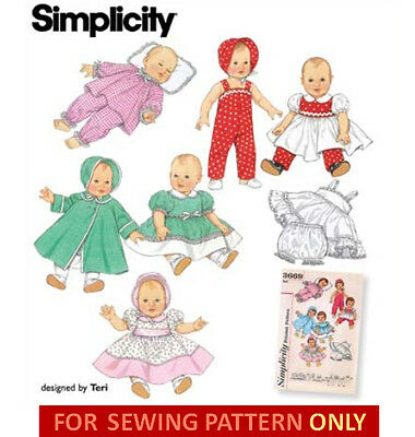 VINTAGE BABY DOLL Clothing Pattern #513 - $9.95 | PicClick