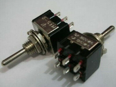 MINI DPDT Guitar ON ON ON Toggle Switch BK