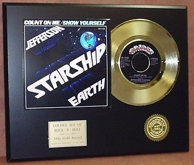 Jefferson Starship - Count On Me - 24k Gold Record Display - Free USA Shipping