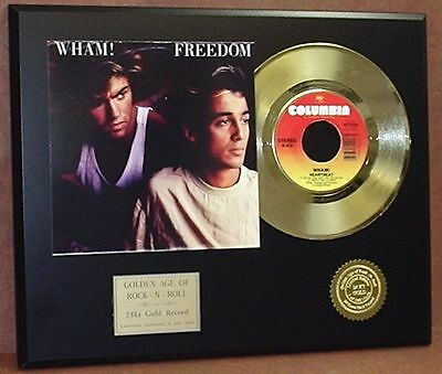 Wham! - Freedom - 24k Gold Record Display Rare Limited Edition - USA Ships Free