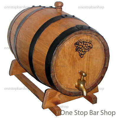 6L American Oak Barrel, Spirit / Port Barrel - Black