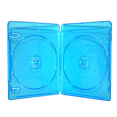 100 NEW Blue Blu-Ray Disc Double DVD CD Case Movie Box