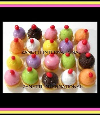 100 Miniature Assorted Cupcakes * Dollhouse Food / Cakes * Wholesale