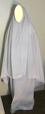 New Women White Islamic / Muslima Two Piece Prayer Garment Clothing