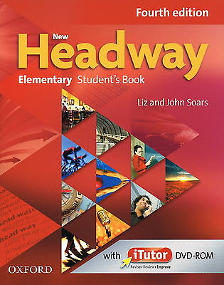 Oxford NEW HEADWAY Elementary FOURTH 4th ED Student's Book w iTutor DVD-ROM @NEW