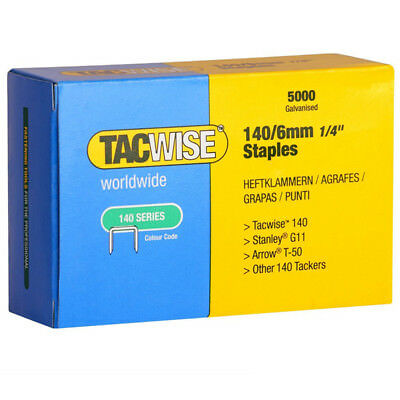 Tacwise 0340 Type 140 Series Staples 6mm - 5000 Pack
