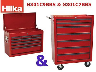 16 Drawer Mobile tool cabinet, tool chest and cabinet combo, Hilka Pro craft