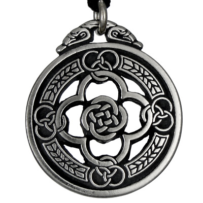 Warrior's Shield Celtic Jewelry Knot Pewter Pendant Protection Amulet