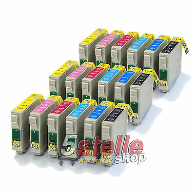 18 Cartucce Compatibili Per Epson Stylus Photo R265 R285 R360
