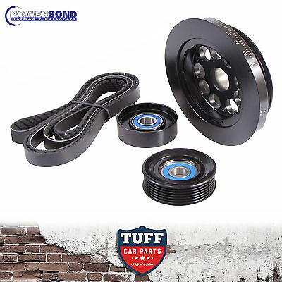 BA BF FG Ford Falcon 6 4.0lt 20% Powerbond Underdrive Balancer Belt Pulley Kit