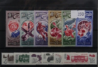 Russia sets (mint). 5 sets, all different (350)