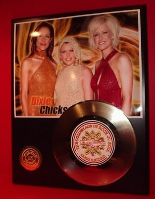 Dixie Chicks - 24k Gold Record Display Rare Limited Edition - Free USA Shipping