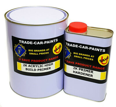 CAR PAINT 2k PRIMER HIGH BUILD GREY SUPER QUALITY MADE IN THE UK 5lt KIT