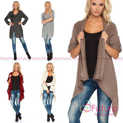 Warm Cardigan Thick Heavy Waterfall Poncho Coat Blazer Maternity Romola