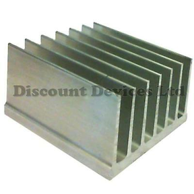 Large Aluminium Heatsink Power Amplifier/Supply/ Transistor/IC/FET/PA (62020)