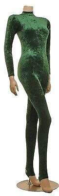 Catsuit Polo Neck Keyhole Back Velvet Long Sleeves (#MELANIE)