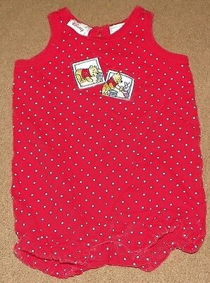 Girls DISNEY STORE One-Piece WINNIE THE POOH Romper Jumper Size 12 Months Piglet