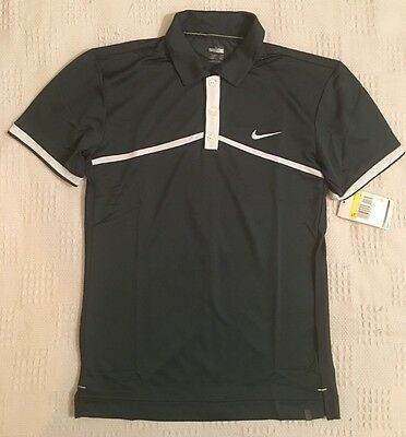 Nike Men's Sphere Shared Athlete Tennis Polo Shirt Charcoal 327738 New Size S