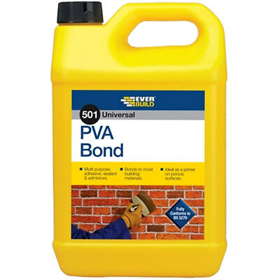 Everbuild 501 PVA Bond 5L Universal Adhesive Bonding Sealer 5 Litre