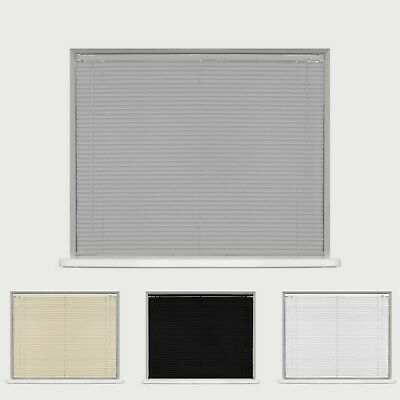 PVC VENETIAN BLINDS - GREY CREAM WHITE BLACK - 150cm &  210cm DROP AVAILABLE