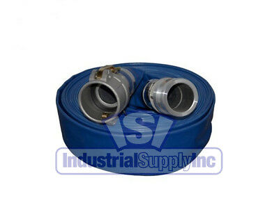 """1-1/2"""" x 100' Blue Water Discharge Hose Camlocks with Free Shipping"""