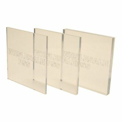 """5"""" x 5"""" ACRYLIC PERSPEX PANELS 1.5MM TO 25MM CLEAR PLASTIC SHEETS PMMA SQUARES"""