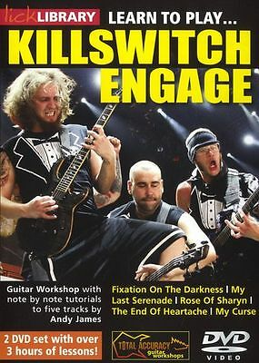 LICK LIBRARY Learn to Play KILLSWITCH ENGAGE Adam D Metal Rock Tutor GUITAR DVD