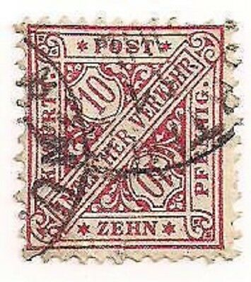 Wurttemberg Stamp- Scott # 099/O6-Used/NH-1890