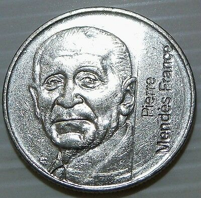 France - 1992 5 Francs - KM1006 - Pierre Mendes - One Year Type