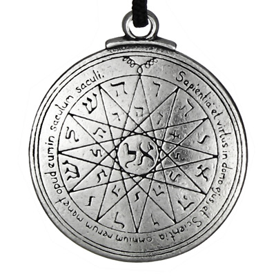 Talisman Pentacle of Mercury Solomon Seal Pendant kabbalah Hermetic Jewelry