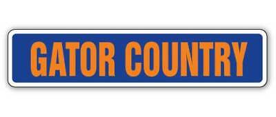 GATOR COUNTRY Street Sign gators fan aligator lover gift football players