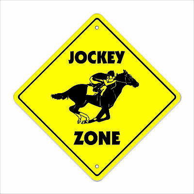 JOCKEY ZONE Sign new horse racing rider gift racer track bettor betting lawn