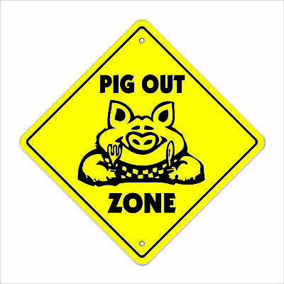 PIG OUT ZONE Sign bbq barbeque pork smoker eat food lover foodie restaurant taco