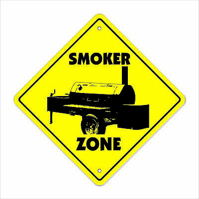 SMOKER ZONE Sign bbq barbeque grill gift bar b que cooking chef pork ribs turkey