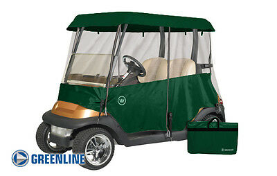 Drivable Golf Car Cart Enclosure Cover for 2 Person Cart - Forrest Green Color
