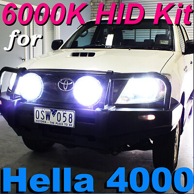 55W H1 6000K Hid Conversion Kit For Hella Rallye 4000 Spot Driving Lights 4Wd
